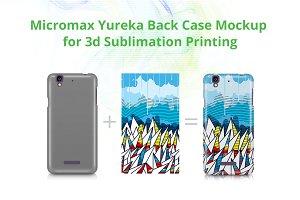 Micromax Yureka 3dCase Design Mockup