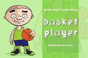 VECTOR basketball player