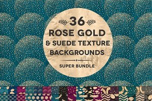 36 Suede & Gold Textured Patterns