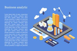 Isometric Business Finance Analytics