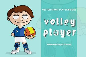 VECTOR Volleyball player