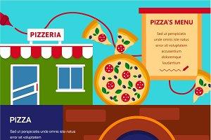 Pizzeria horizontal banners