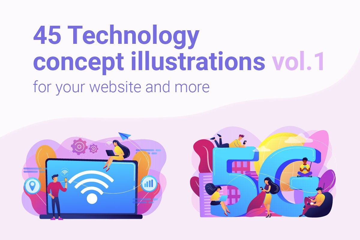 Technology concept illustrations