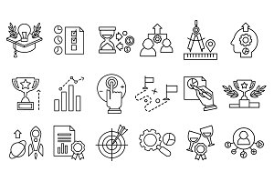 Business and Development icons set