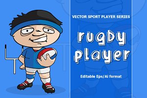 VECTOR Rugby player