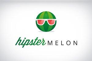 Hipster melon funny modern logo
