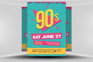90s Party Flyer Template V2