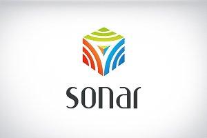 Sonar brand logo identity design