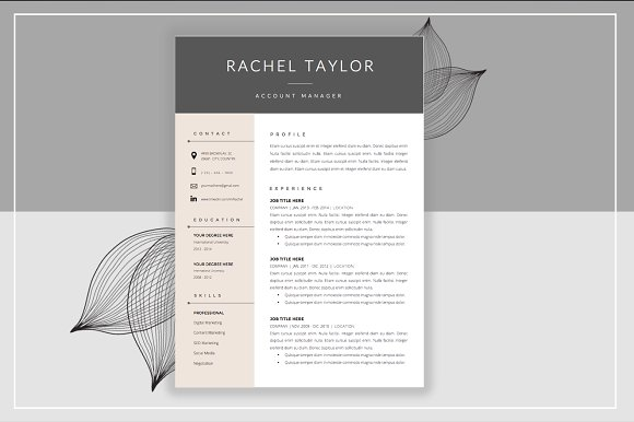 resume template cover letter resumes - Cover Letter And Resume Templates