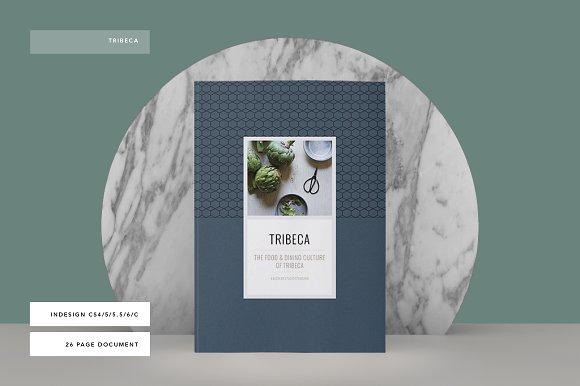 tribeca cookbook brochure templates creative market