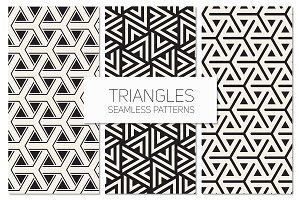 Triangles. Seamless Patterns Set 6