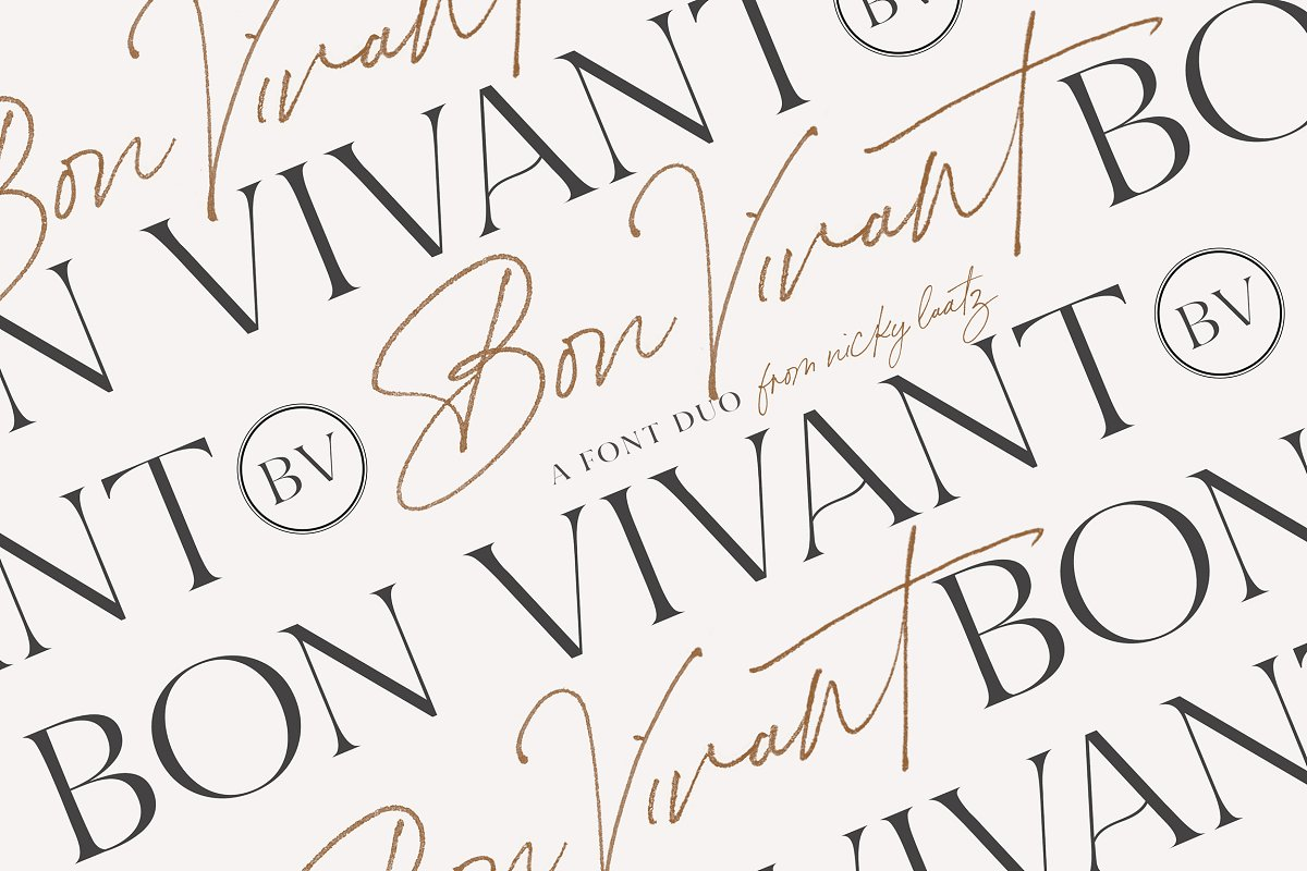 Bon Vivant Collection in Display Fonts - product preview 8