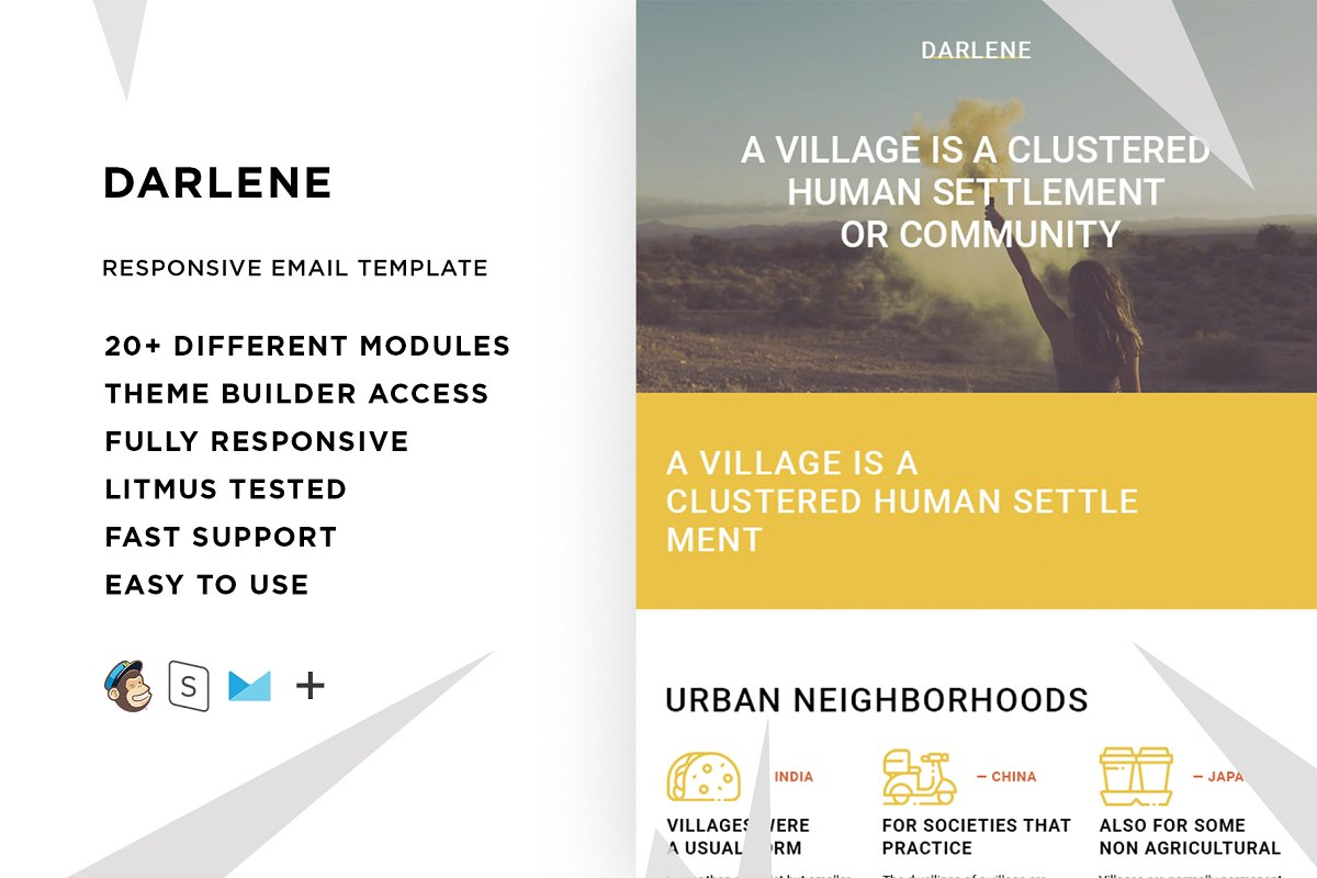 Darlene – Responsive Email template