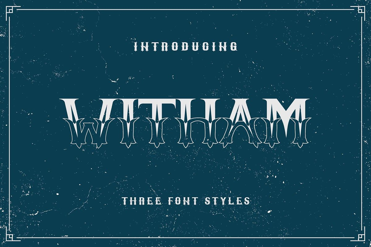 Witham Family in Display Fonts - product preview 8