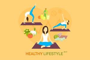 Healthy life diet