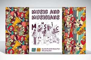 Musicians vector collection