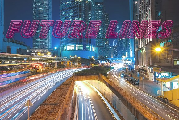 Future Lines in Display Fonts - product preview 2