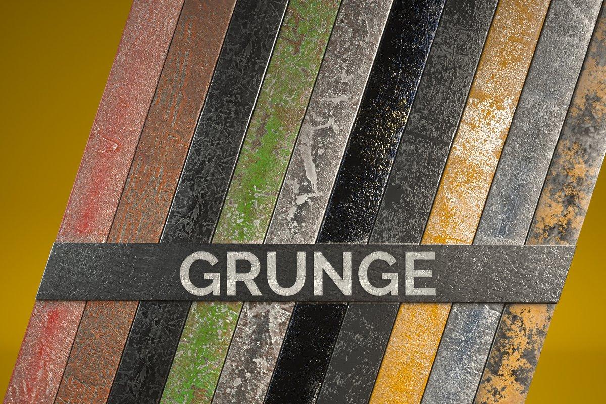 10 Grunge Metal Mats for C4D Octane