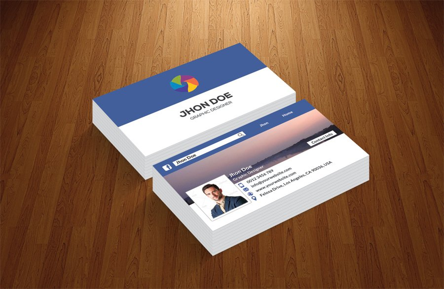 Beautiful facebook business cards gallery business card ideas timeline business card business card templates creative market colourmoves