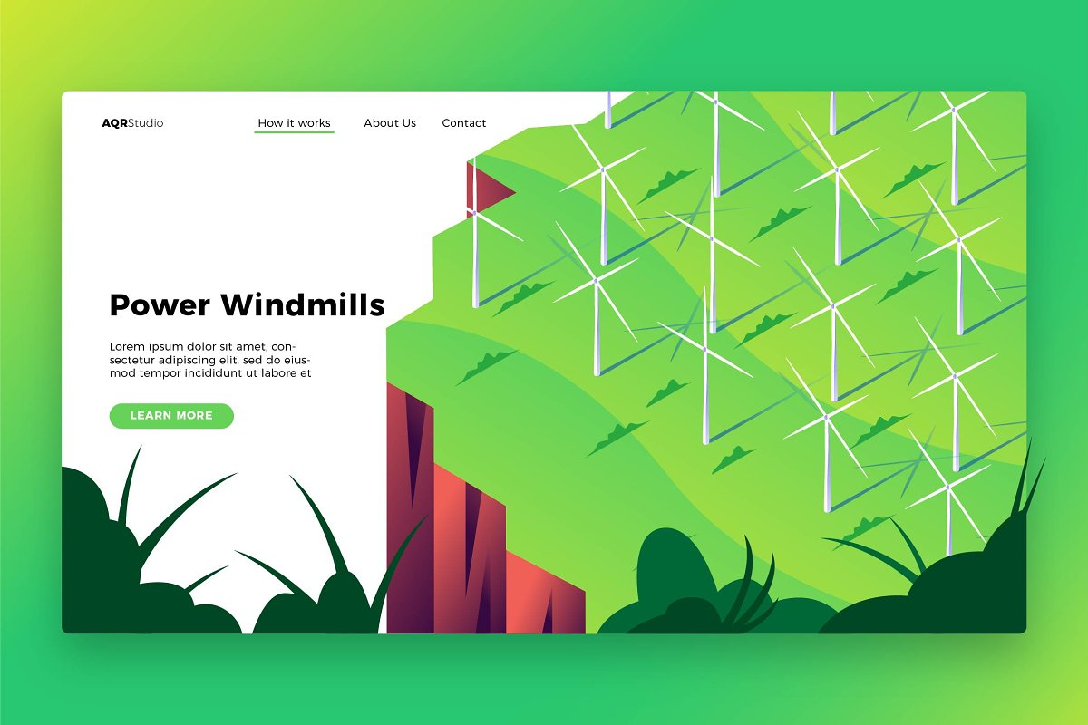 Windmill Power - Banner&Landing Page