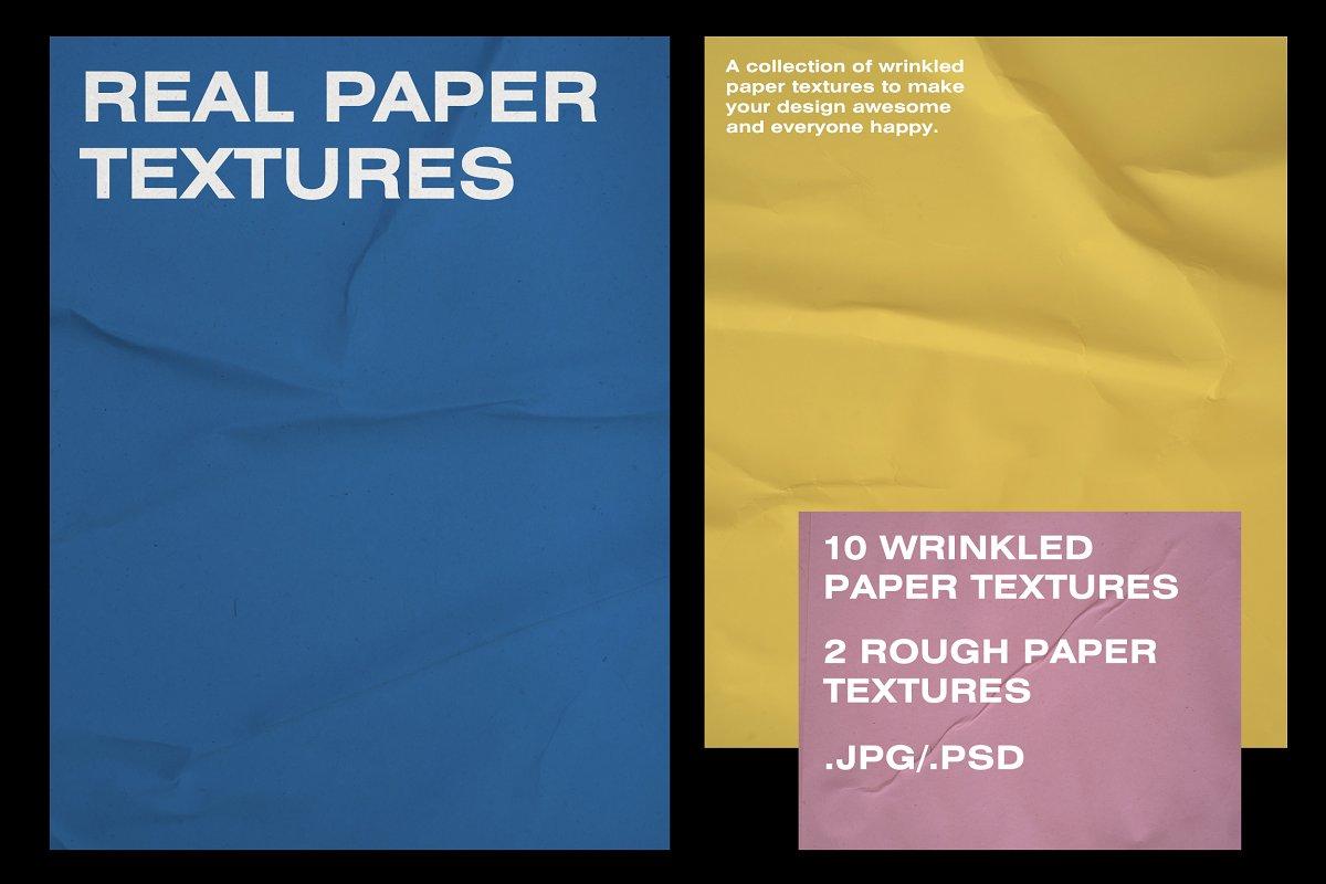 Wrinkle Paper Mockups & Textures ~ Scene Creator Mockups ~ Creative
