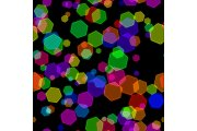 Abstract colorful bokeh design
