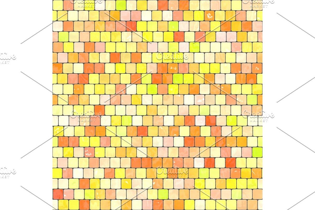 ceramic yellow orange mosaic