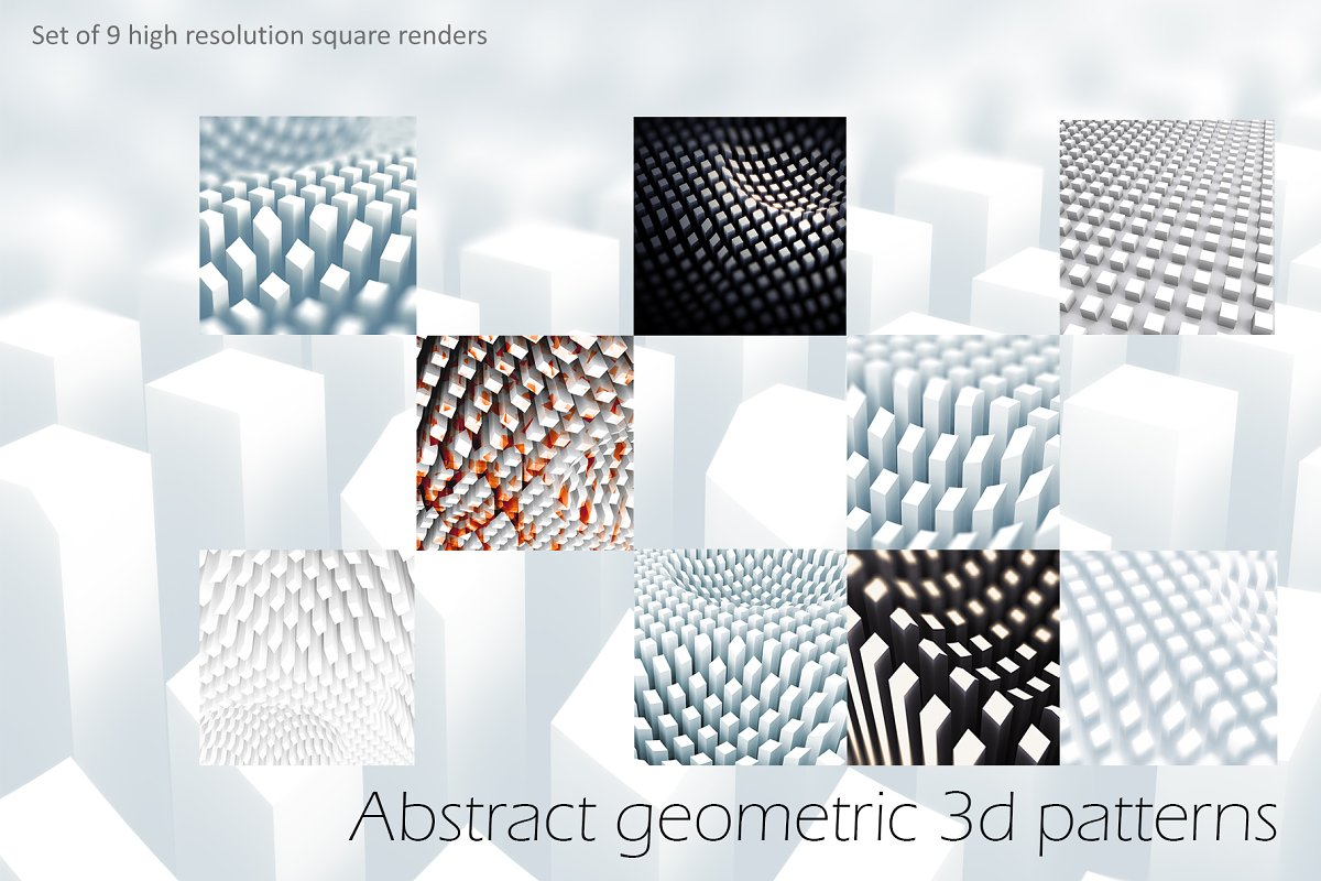 Abstract 3D geometric backgrounds