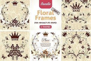 Collect Grunge Floral Frames