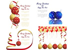 Set of 4 Christmas Designs