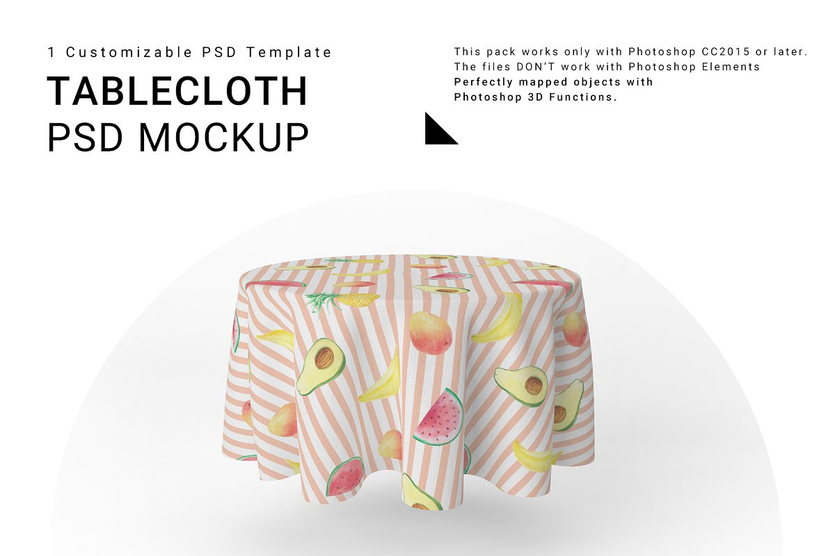 Round Tablecloth ~ Product Mockups ~ Creative Market