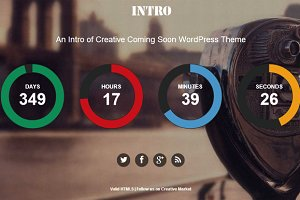 Intro - Coming Soon WordPress Theme
