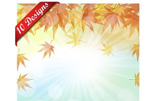 Set of 10 Autumn Designs
