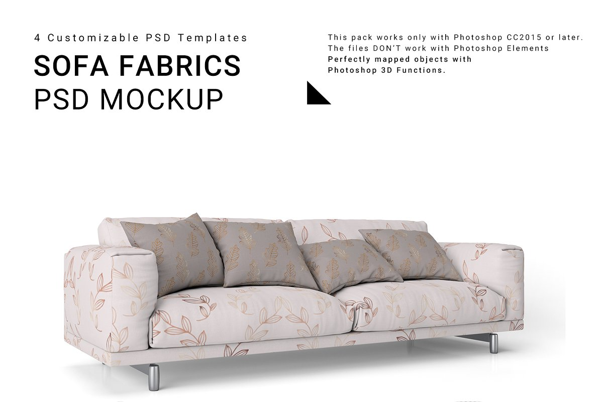 Super Sofa And Throw Pillows Set Product Mockups Creative Market Ocoug Best Dining Table And Chair Ideas Images Ocougorg