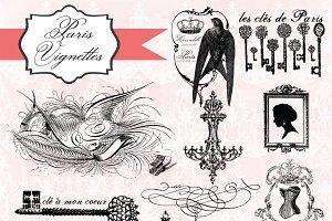 Paris Vignettes Megapack 49 Images