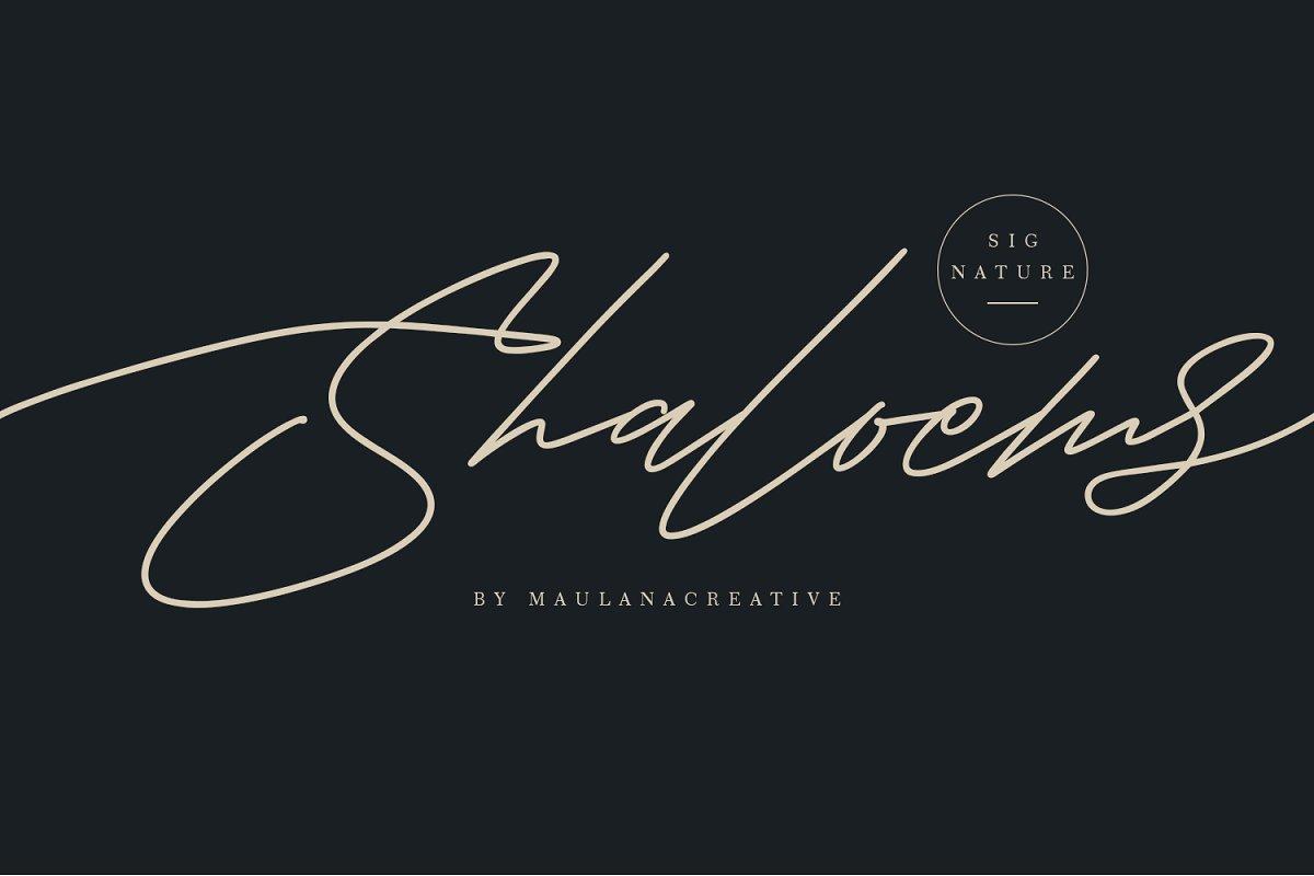 Shaloems Handwritten Signature Font