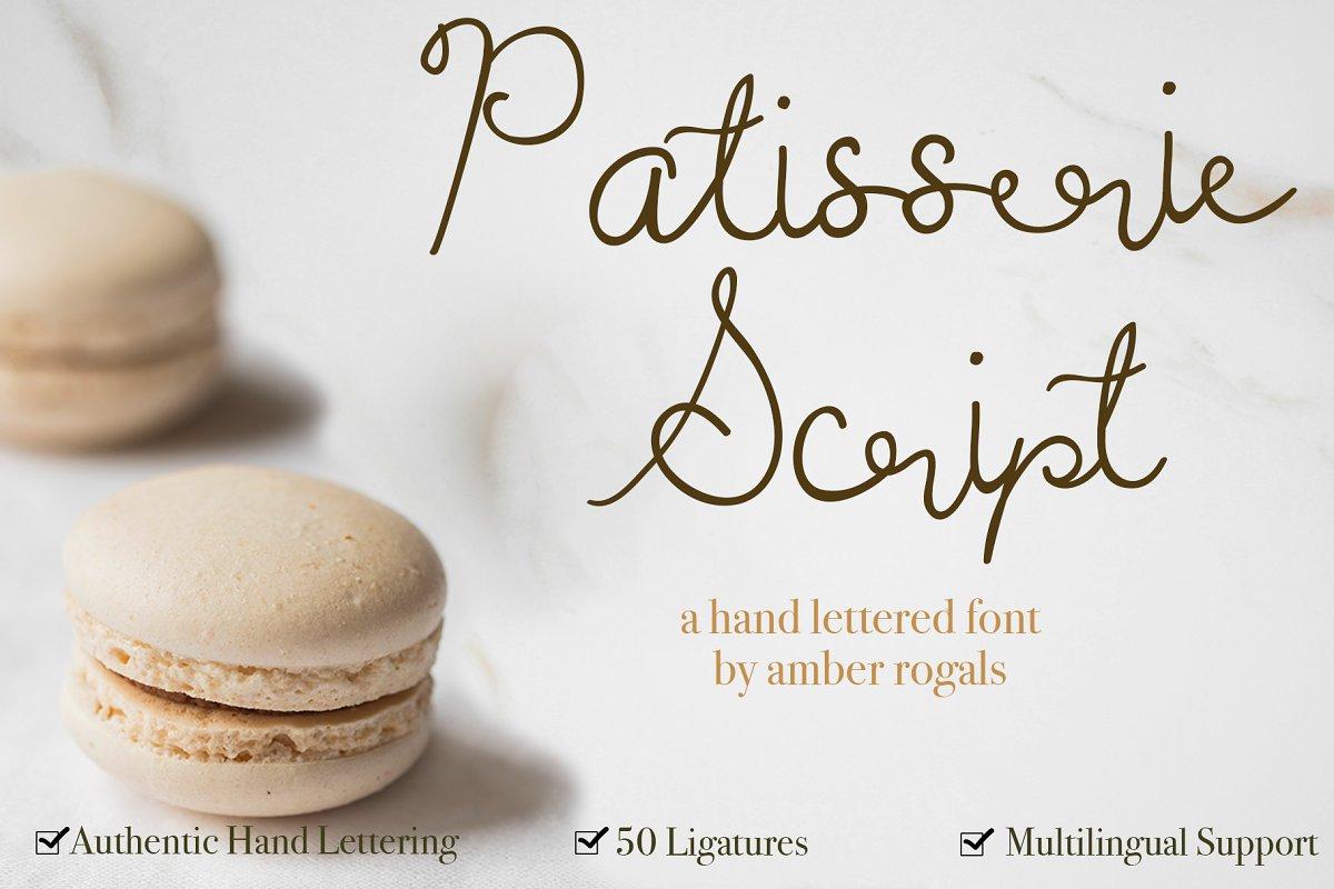 Patisserie Script - A Sweet Font