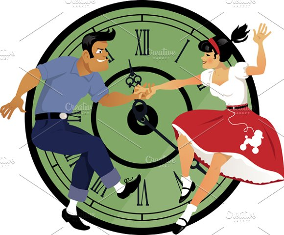 Rock around the clock in Illustrations
