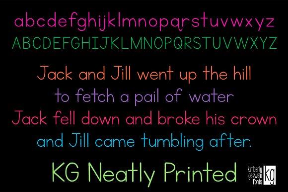 KG Neatly Printed
