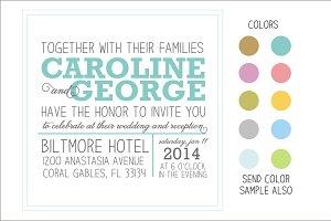 NewsPaper Style Wedding Invitation