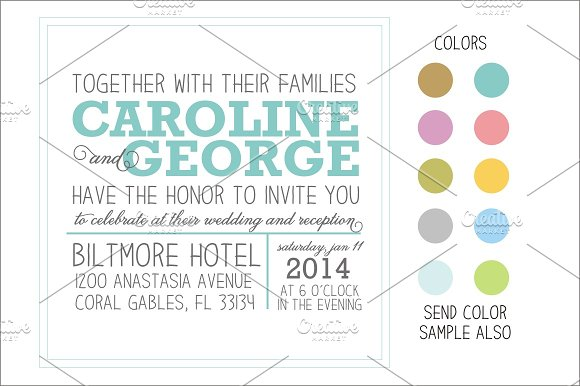 Newspaper Style Wedding Invitation Invitation Templates Creative