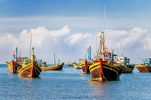 Traditional fishing boats, Vietnam by  in Transportation