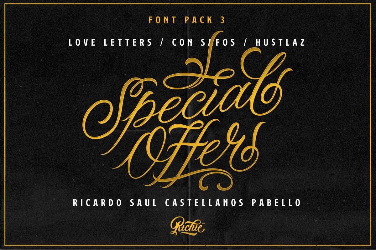 Special Offer x Font Pack 3