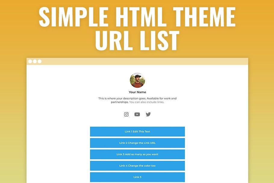 Linky - Easy URL List HTML Template