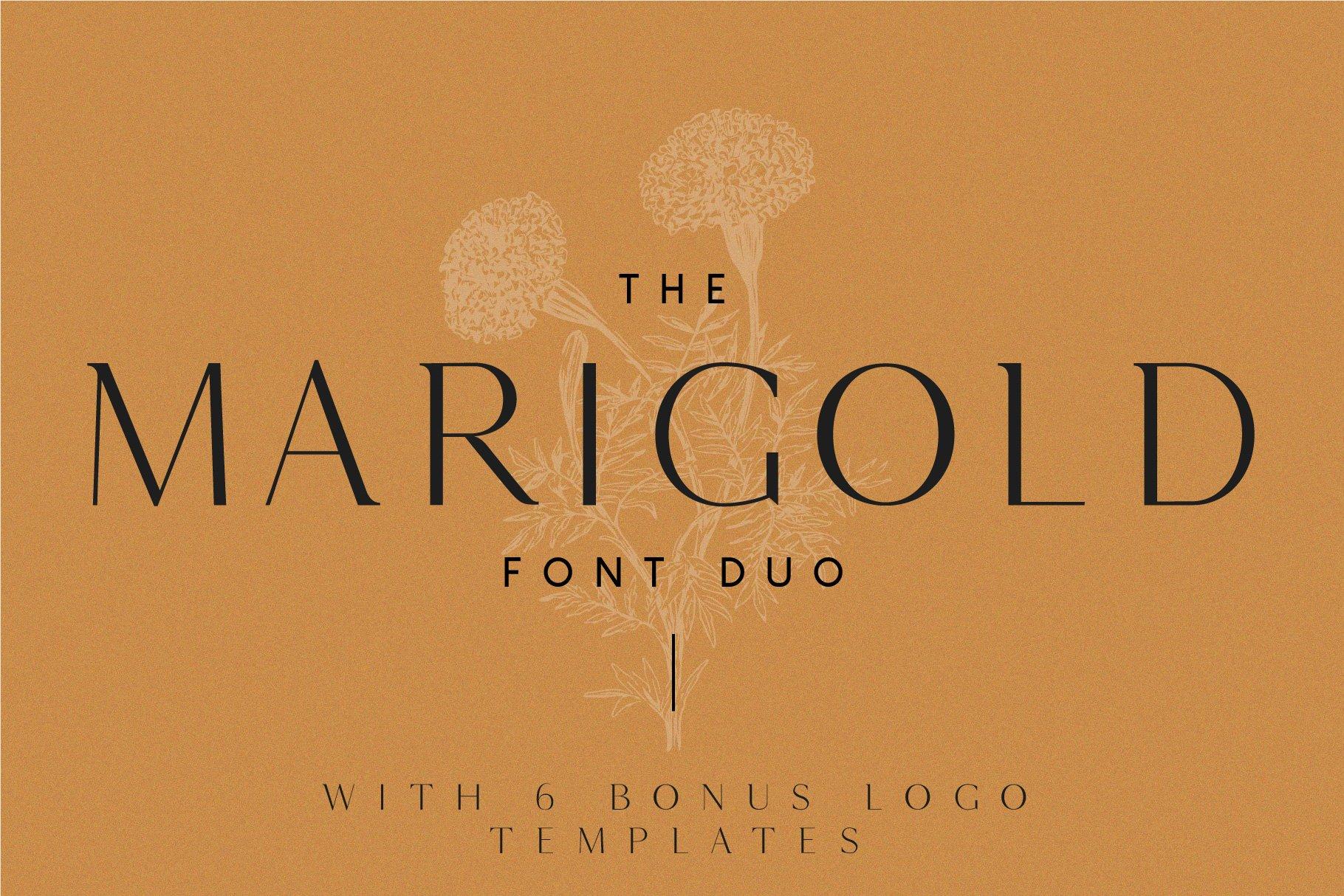 Marigold - Font duo and logo set   Stunning Serif Fonts ~ Creative Market
