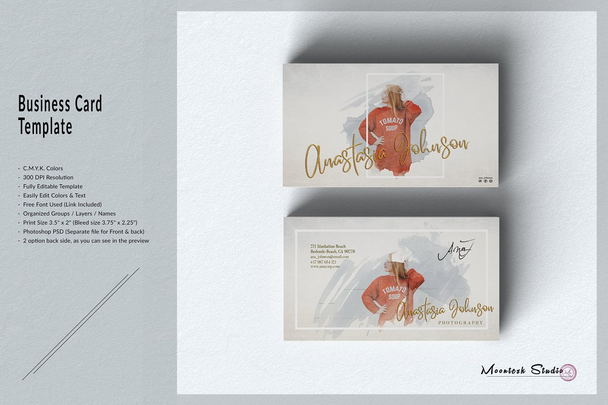 Watercolour Business Card Template