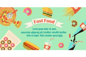Fast food banner/flyer