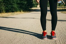 Legs of a runner woman