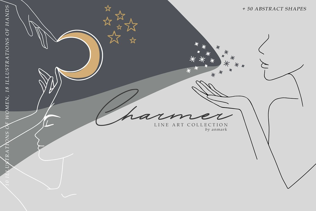 Charmer Line Art Collection Graphic Objects Creative Market