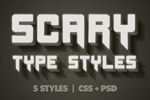 Scary CSS Type Styles (+PSD)